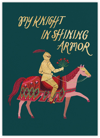 Knight in Shining Armor (Becca Stadtlander) - Red Cap Cards - Valentine's day cards