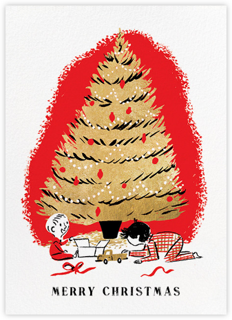 Under the Tree (Nicholas John Frith) - Red Cap Cards - Holiday cards