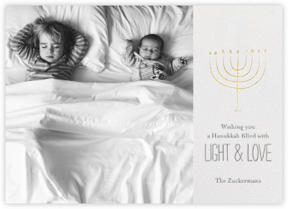 Hanukkah in Tiny Town - Little Cube - Hanukkah photo cards