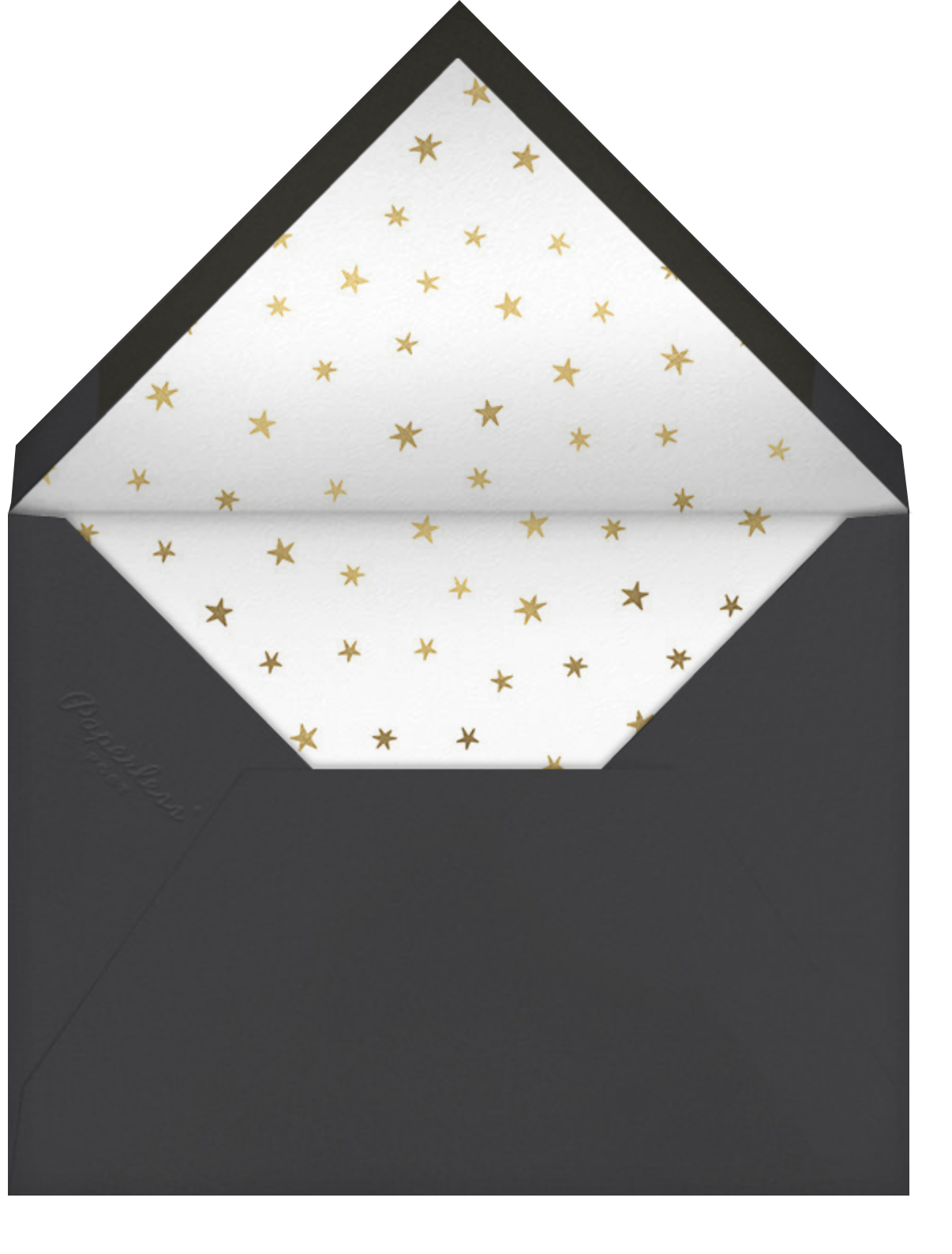 Stars over Tiny Town - Gold - Little Cube - New Year's Eve - envelope back