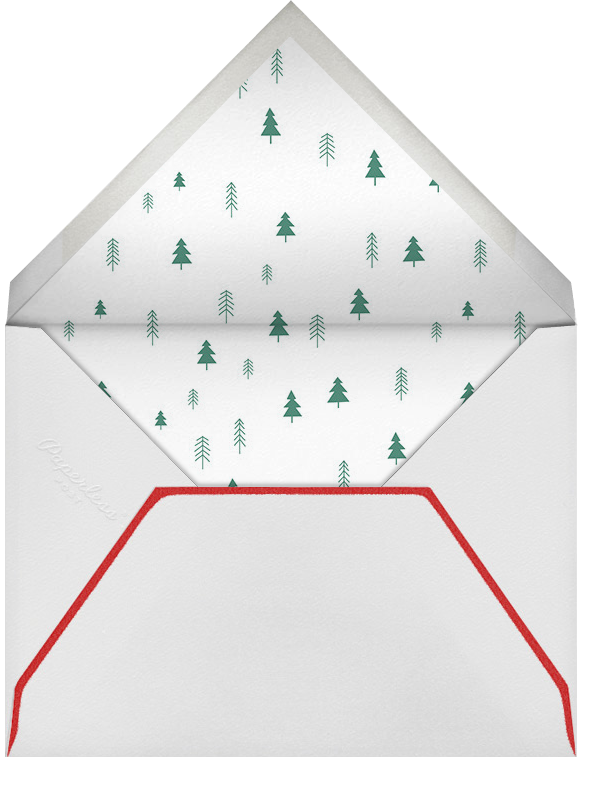 Tiny Town Forest - Green - Little Cube - Winter entertaining - envelope back