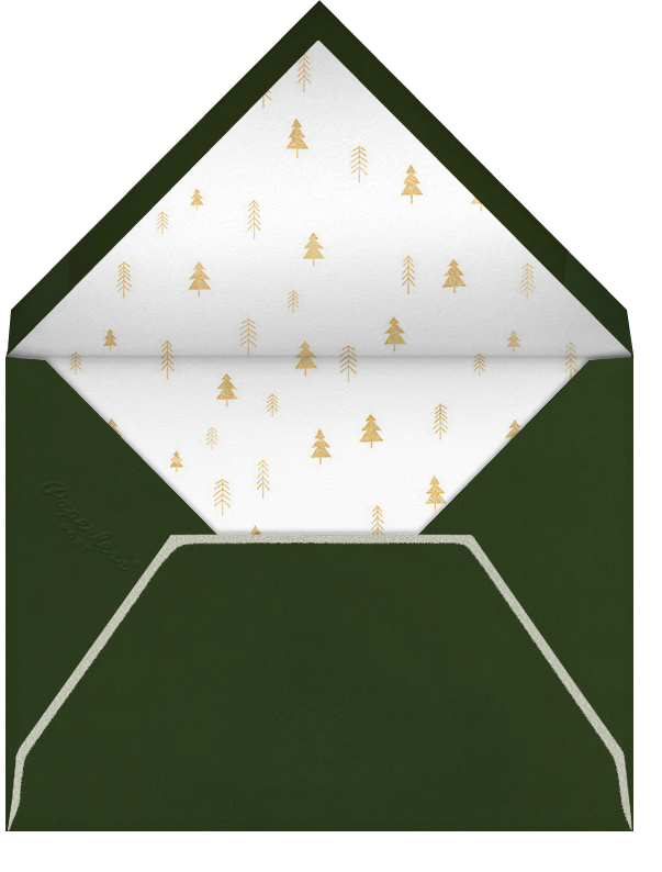 Tiny Town Forest - Gold - Little Cube - Winter parties - envelope back