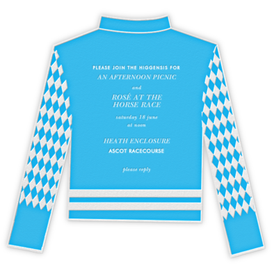 Racing Silk Diamond - Paperless Post - Sporting Event Invitations