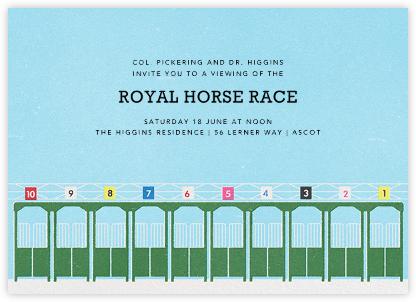 Starting Gate - Paperless Post - Sporting Event Invitations