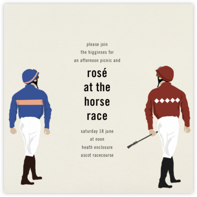 Jockey - Paperless Post - Sporting Event Invitations