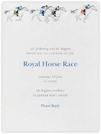 Horse Races - Paperless Post -
