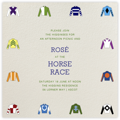 Racing Silks - Paperless Post - Sporting Event Invitations