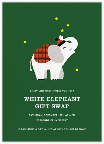 Little White Elephant - Paperless Post -