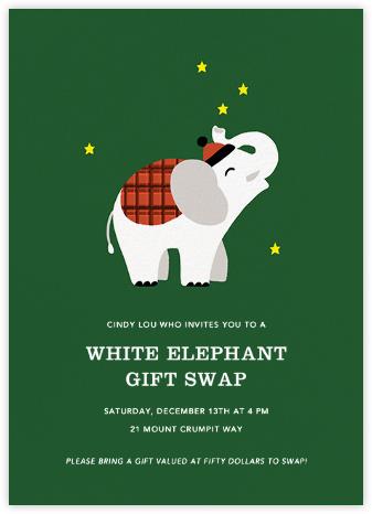 Little White Elephant - Paperless Post - Gift Exchange Invitations