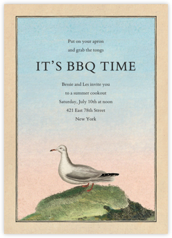 Gull on Hill - John Derian - Summer entertaining invitations