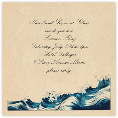 Rough Waves - John Derian - Summer entertaining invitations