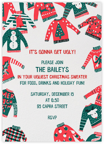 Against Sweater Judgment - Hello!Lucky - Holiday invitations