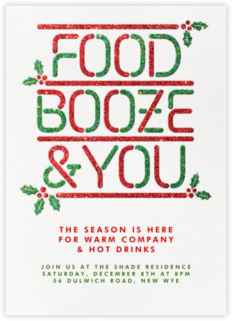 Food Booze and You – Holiday - Paperless Post - Holiday invitations