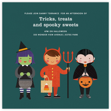 Tricky Trio - Petit Collage - Halloween invitations