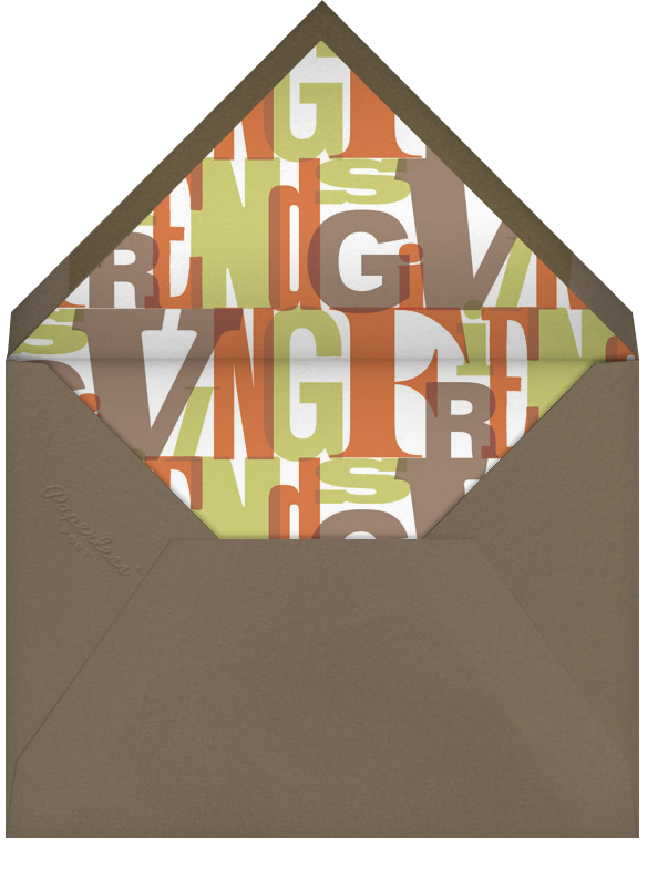 Foodgiving - Paperless Post - Thanksgiving - envelope back
