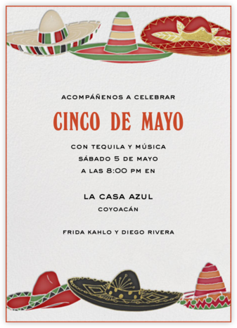 Six Sombreros - Paperless Post - Cinco de Mayo Invites