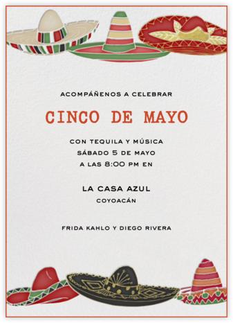 Six Sombreros - Paperless Post - Cinco de Mayo invitations