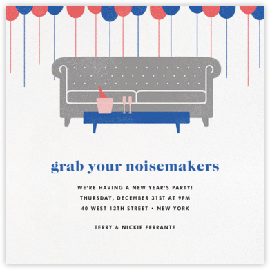 Sofa Soiree - Paperless Post - New Year's Eve Invitations