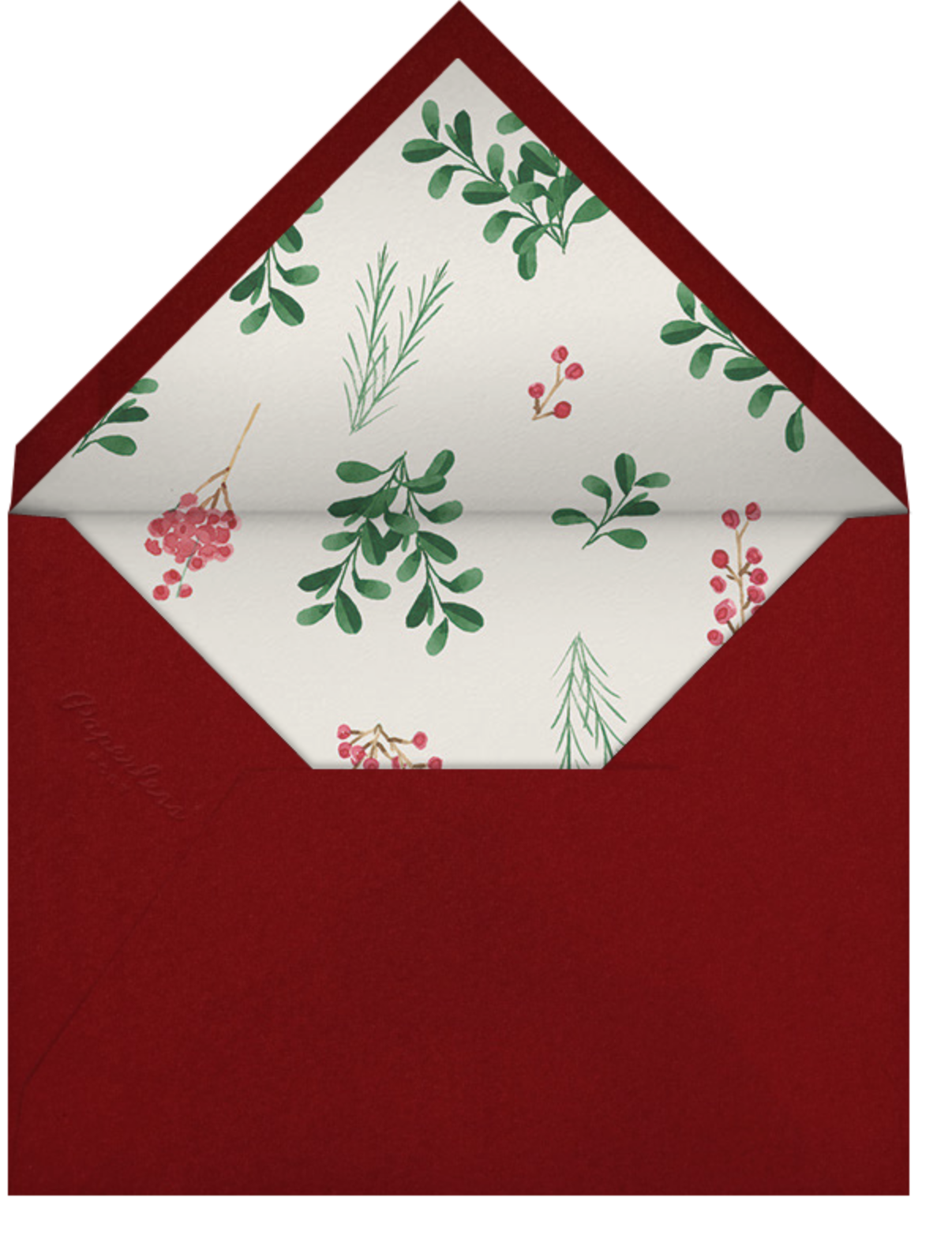Holly Hedge - Paperless Post - Holiday cards - envelope back