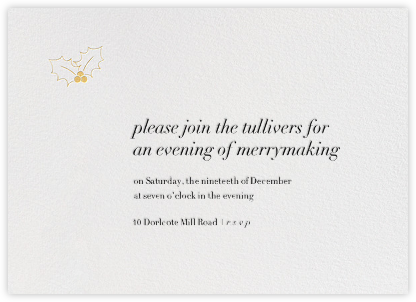A Touch of Holly - Gold - Paperless Post -