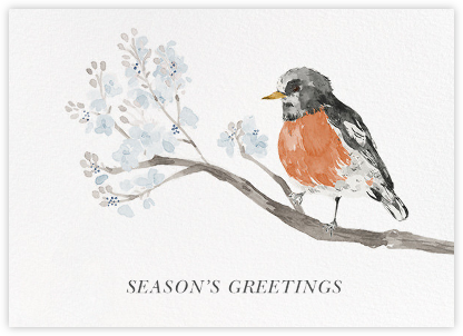 English Robin (Greeting) - Paperless Post - Company holiday cards