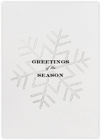 Snowlines - Silver - Paperless Post - Holiday Cards