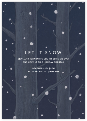 On a Snowy Evening - Paperless Post - Winter entertaining invitations