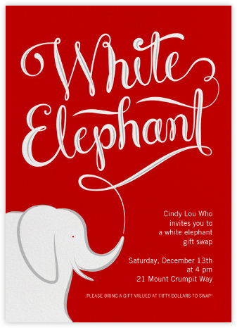 White Elephant - Paperless Post -