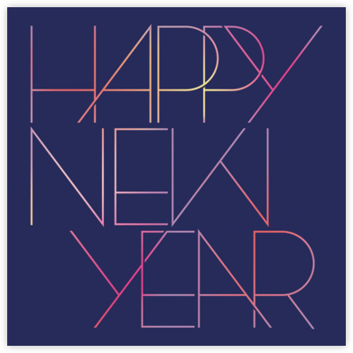 Happy Neon Year - Paperless Post - New Year cards
