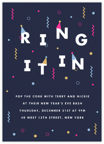 Ring in the New - Paperless Post - New Year's Eve Invitations