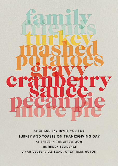 Thanksgiving Essentials - Paperless Post - Thanksgiving invitations