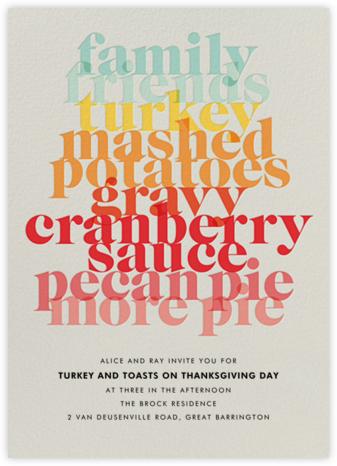 Thanksgiving Essentials - Paperless Post