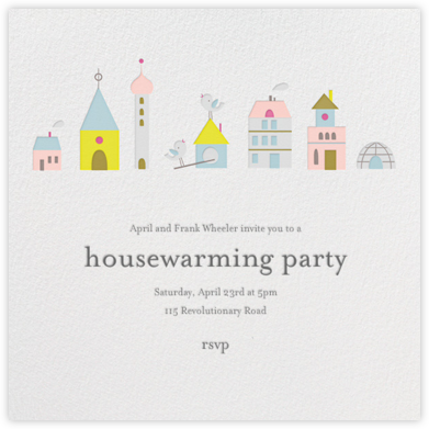 Birdie's Town (Square) - Little Cube - Housewarming party invitations