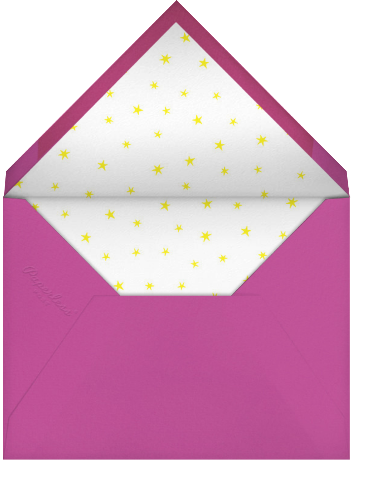 Stars over Tiny Town - Pink/Blue - Little Cube - Kids' birthday - envelope back