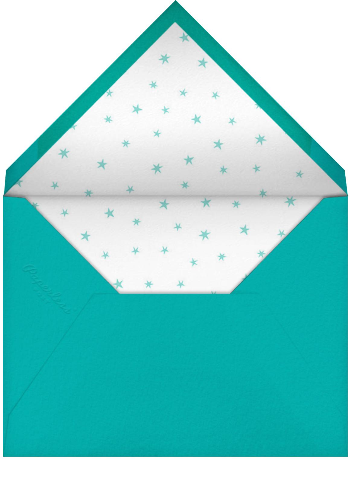 Stars over Tiny Town - Blue/Yellow - Little Cube - Kids' birthday - envelope back