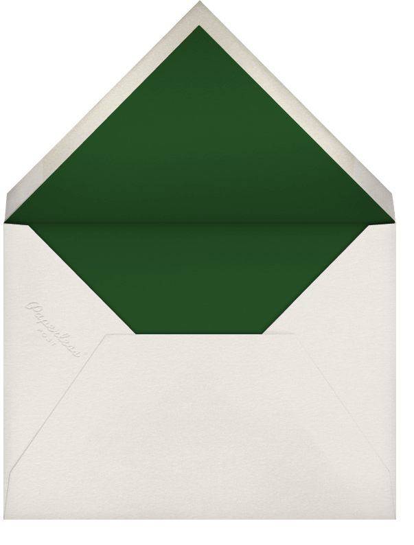 Partridge and Pear - Hunter Green - Paperless Post - Envelope