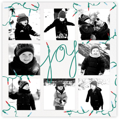 Strung with Joy - Paperless Post - Photo Christmas cards