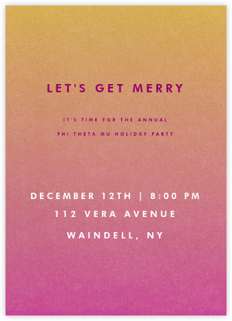 Gradient Full - Pink - Paperless Post - Sorority Event Invitations