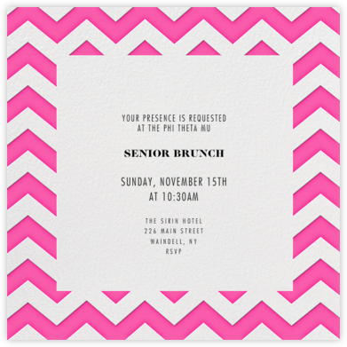 Chevrons (Square) - Bright Pink - Paperless Post -