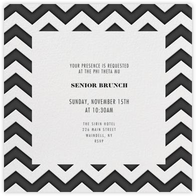 Chevrons (Square) - Black - Paperless Post -
