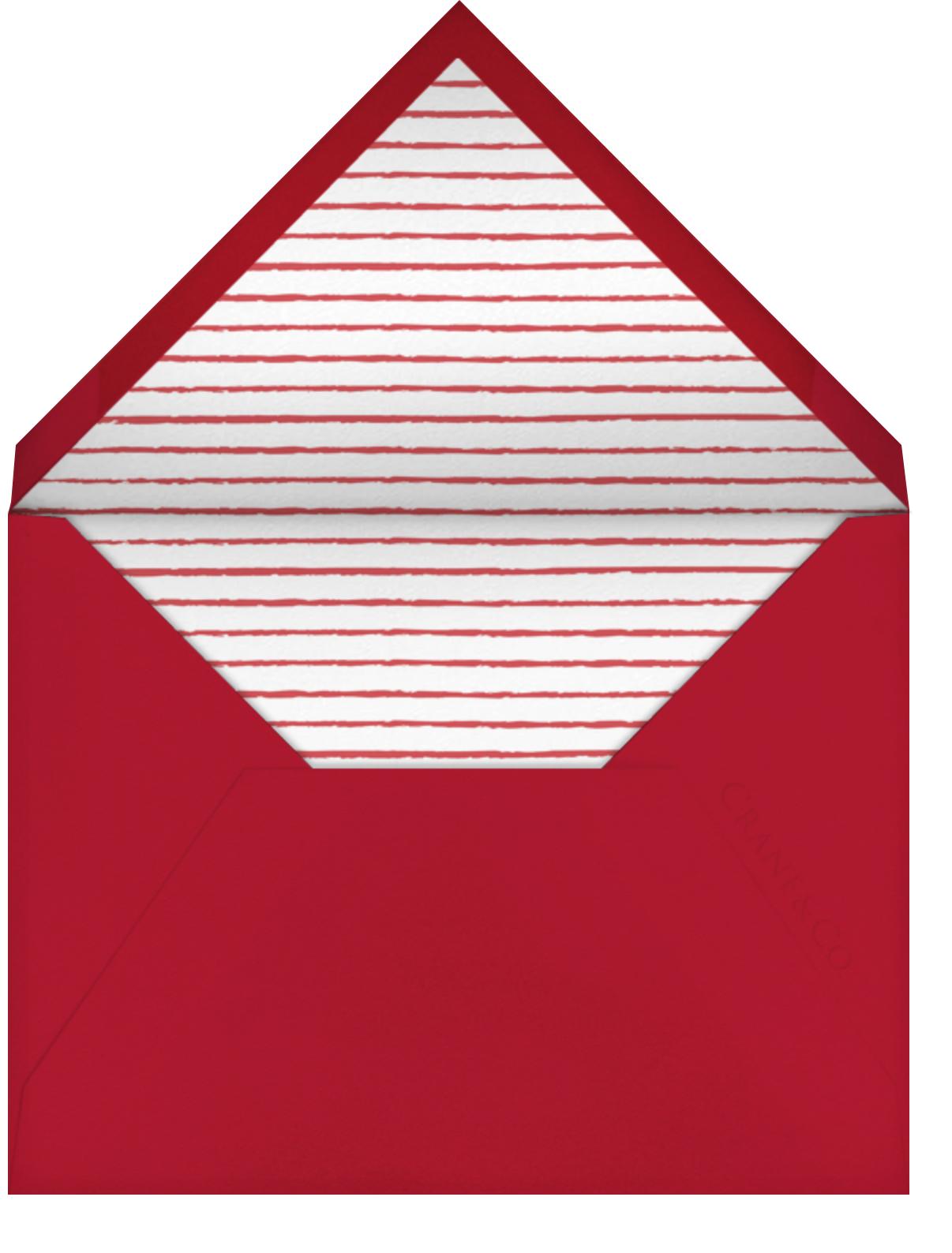 Cartwheelin' Claus - Fair - Paperless Post - Christmas party - envelope back