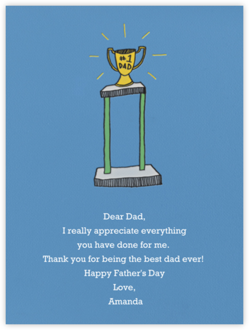 Number One Dad - Paperless Post - Father's Day cards