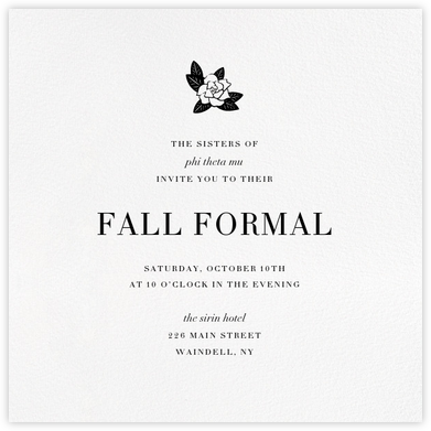 White (Square) - Paperless Post - Sorority Event Invitations