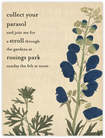 Acontitum - John Derian - Barbecue and picnic invitations