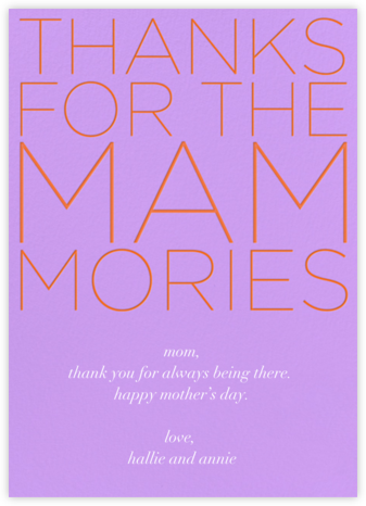Mammories - Paperless Post - Online greeting cards