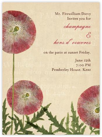 Papaver - John Derian - Spring Party Invitations