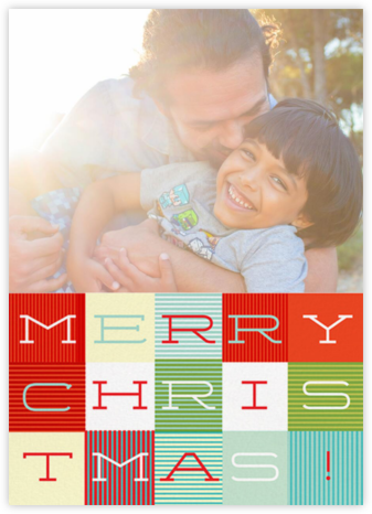 Wrapped in Plaid (Photo) - Paperless Post - Affordable Christmas Cards