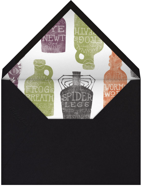 Witch's Brew - Crate & Barrel - Halloween - envelope back