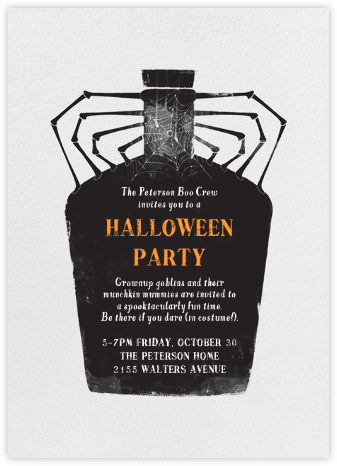 Witch's Brew - Crate & Barrel - Halloween invitations