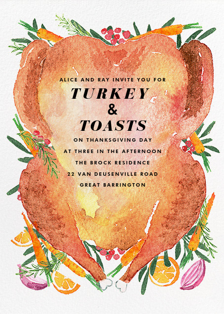 Golden Brown - Paperless Post - Thanksgiving invitations